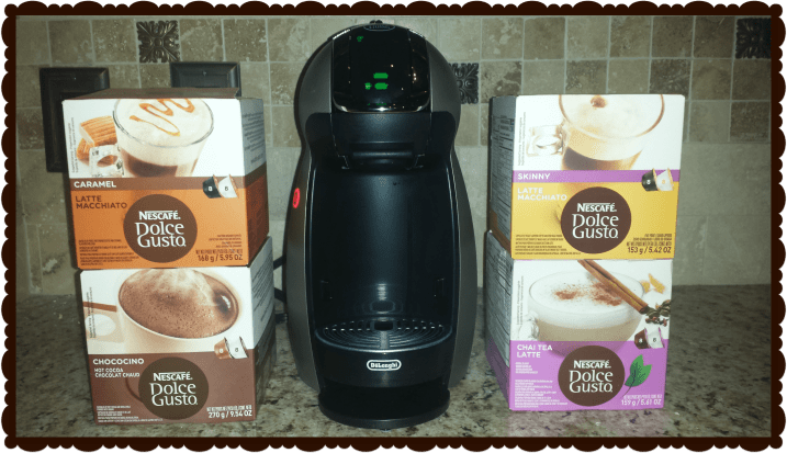 NESCAFE Dolce Gusto Coffee Machine offers over 17 different specialty drinks.