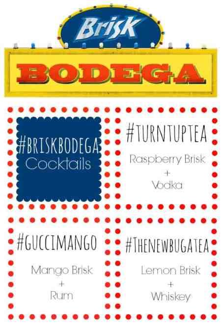 Cocktails using Brisk Bodega
