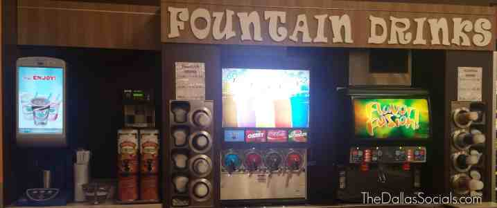 Fountain stations at the Kroger in Forney, Texas.