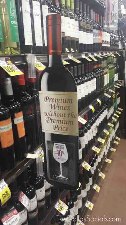 Kroger offers over 1800 labels of wine at the Forney location.