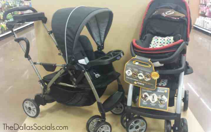 Strollers for sale at the Kroger in Forney.