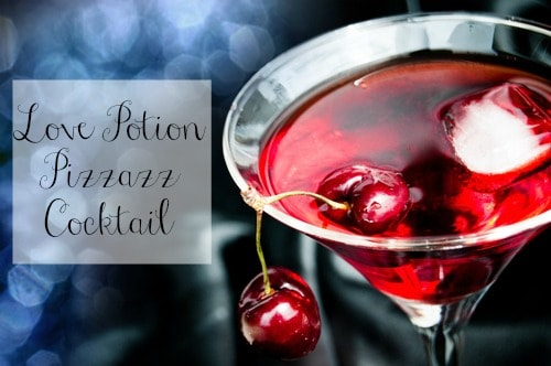 Love Potion Pizzazz Cocktail Recipe #love #valentinesday #cocktail