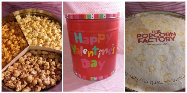 Happy Valentine's Day Popcorn Tins from Popcorn Factory