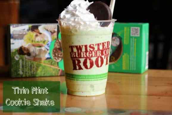 Thin Mint Cookie Shake from Twisted Root Burger