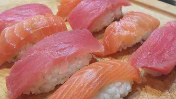 Homemade Nigiri - How to make sushi #recipes