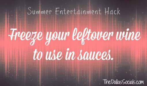 Freeze leftover wine to use in sauces #summer #entertainment #hacks #party #cooking