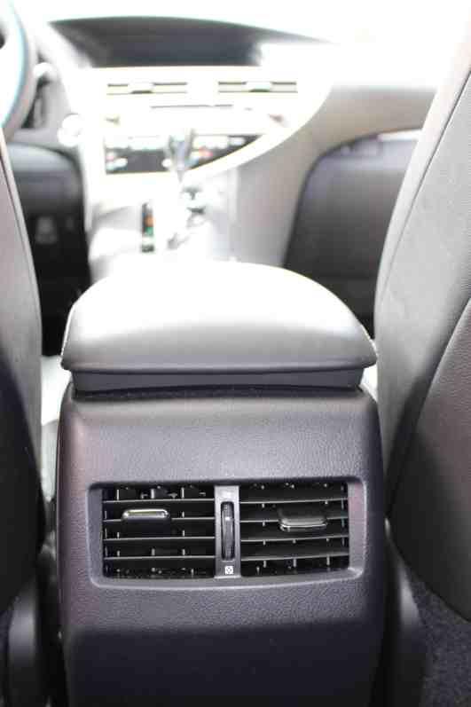 Lexus RX 350 Back Seat Air Controls