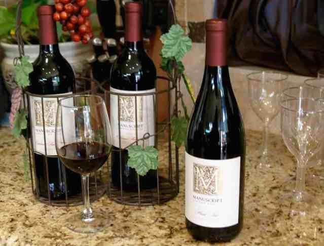 Manuscript Wines - at home wedding celebration
