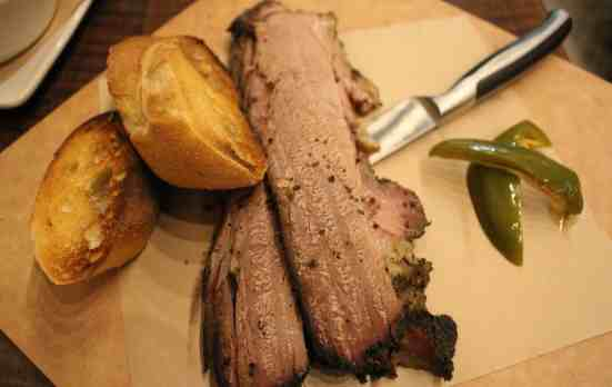 Natural Brisket at Clark Food and Wine Co