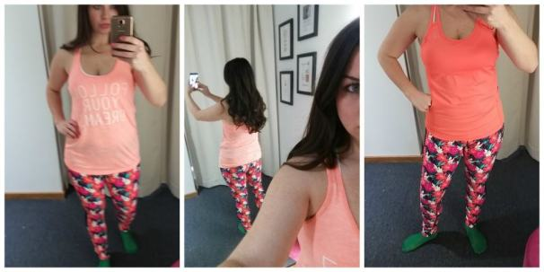 Lorna Jane Outfit Floral Pants