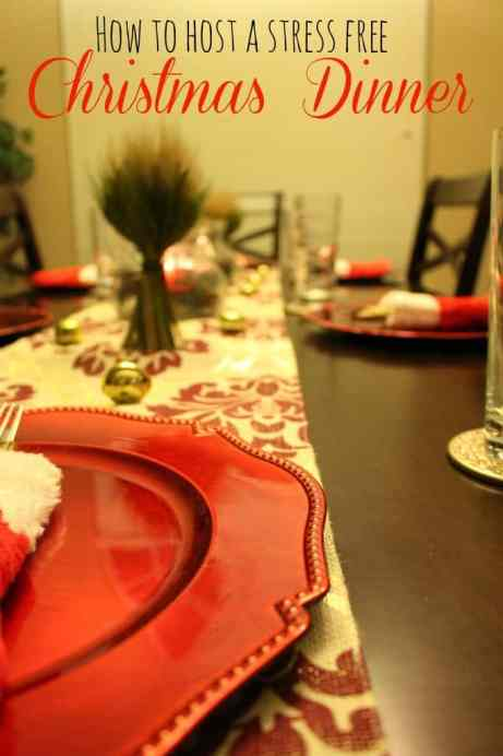 How to Host a Stress Free Christmas Dinner