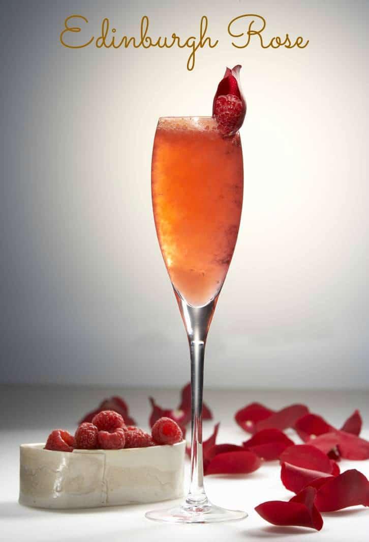 Edinburgh Rose Romantic Cocktail