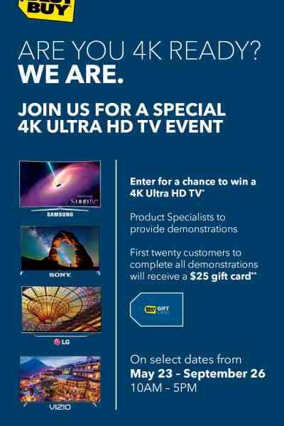 4K Ultra HD In Store Events at Best Buy Happening Now