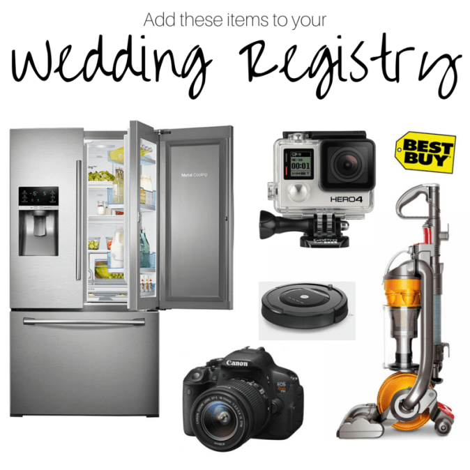 Add these items to your Wedding Registry