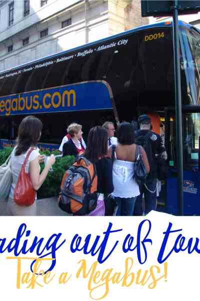 Heading Out of Town? Take a Megabus.com!