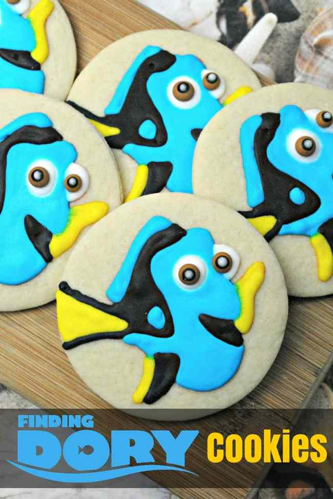 How to Make Finding Dory Cookies