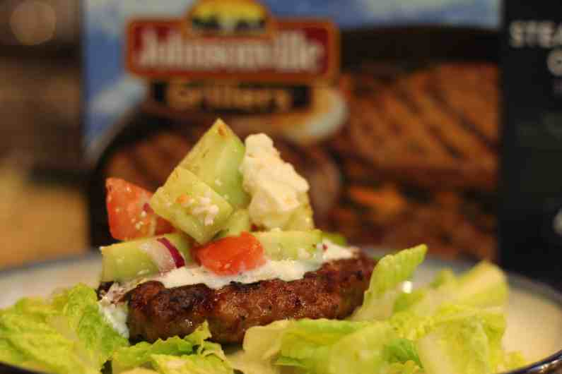 Bunless Greek Burger