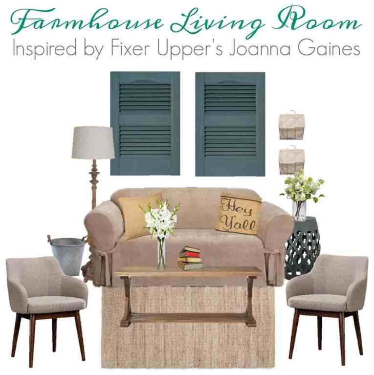 Fixer Upper Inspired Farmhouse Living Room