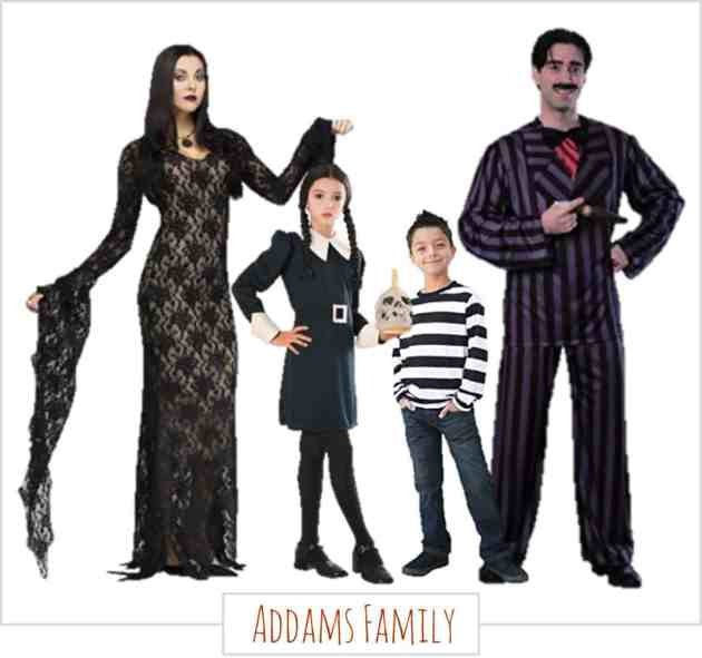 Family Halloween Costumes - Addams Family