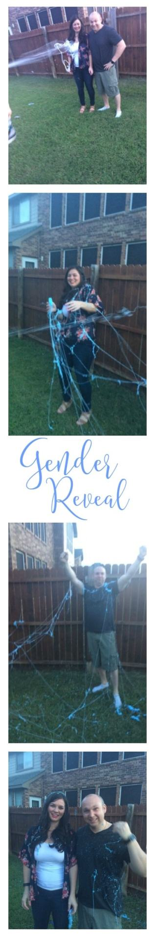 Gender Reveal Party with Silly String