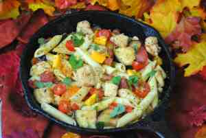 Easy Chicken Pasta Skillet Recipe