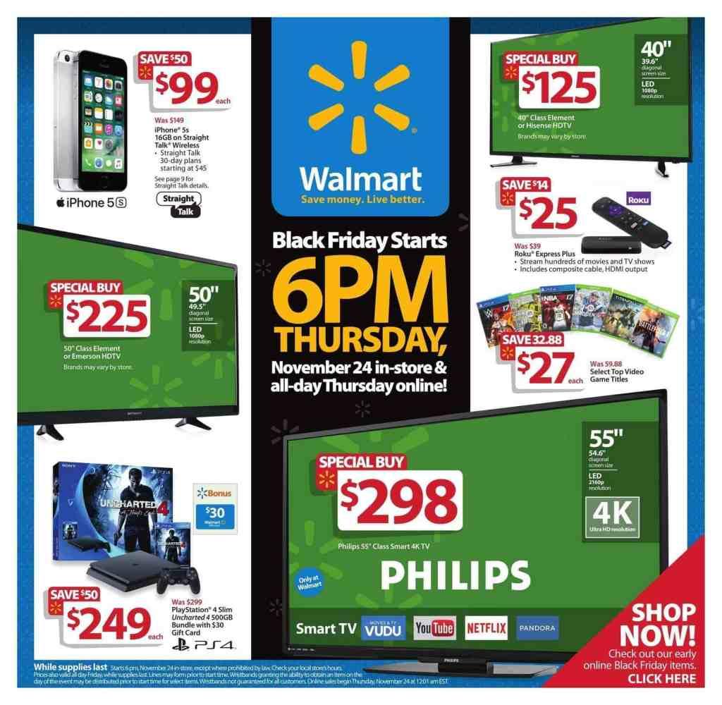 2016 Black friday Walmart Ads