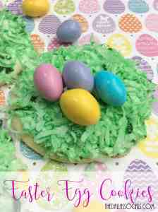 Simple and Cute Easter Egg Cookies