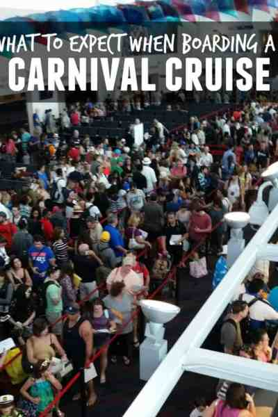 What to Expect When Boarding A Carnival Cruise