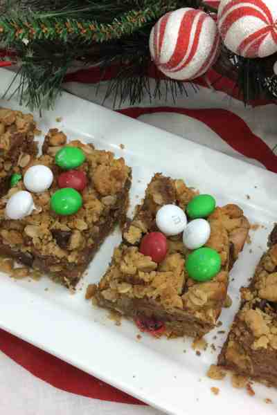 Monster Christmas Cookie Bars