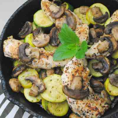 Smothered Balsamic Mushroom Grilled Chicken Recipe