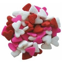 Valentines - Heart Shaped Confetti Sprinkles 2oz. package