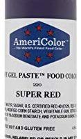 Americolor Soft Gel Paste Food Color, 4.5-Ounce, Super Red
