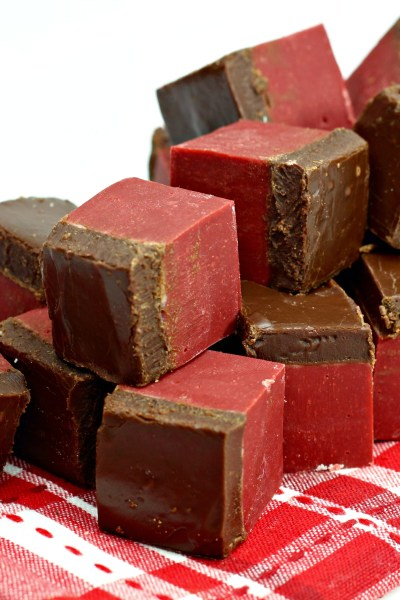 Valentine's Day Red Velvet Fudge
