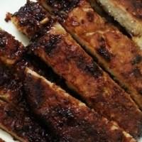 Sticky BBQ Pork Strips