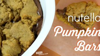 Nutella Pumpkin Bars Recipe