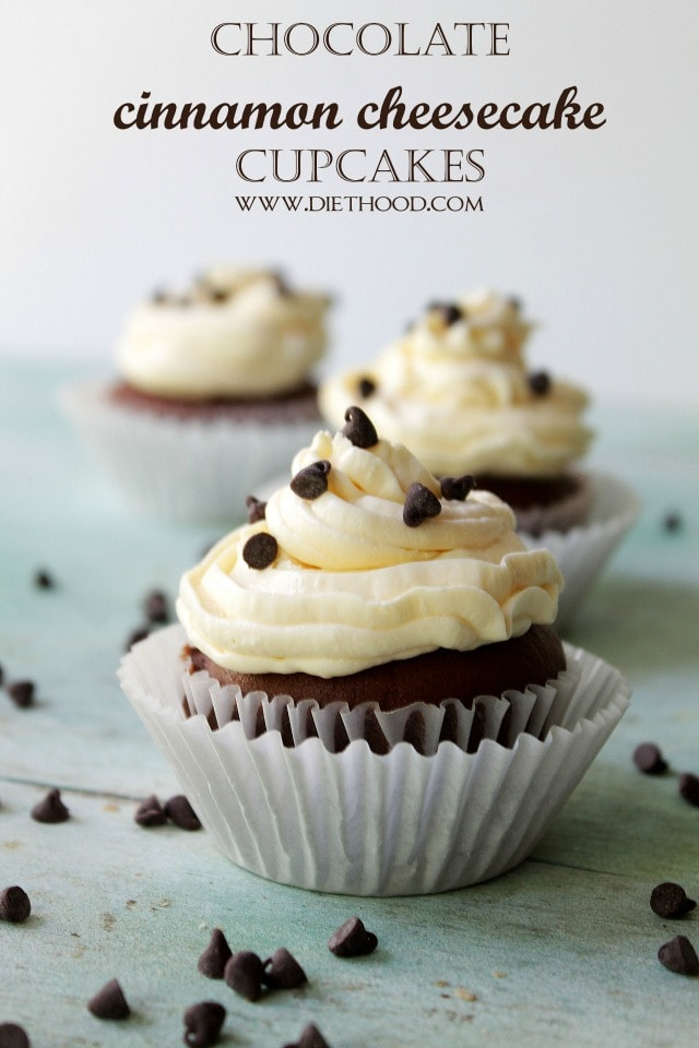 Chocolate Cinnamon Cheesecake Cupcakes Recipe
