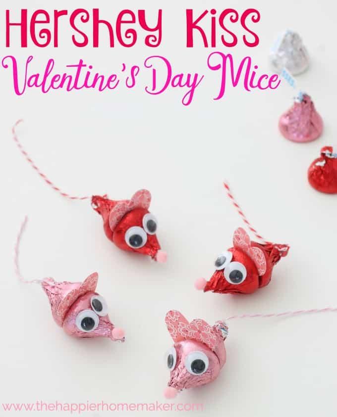 Hershey Kiss Valentine's Day Mice