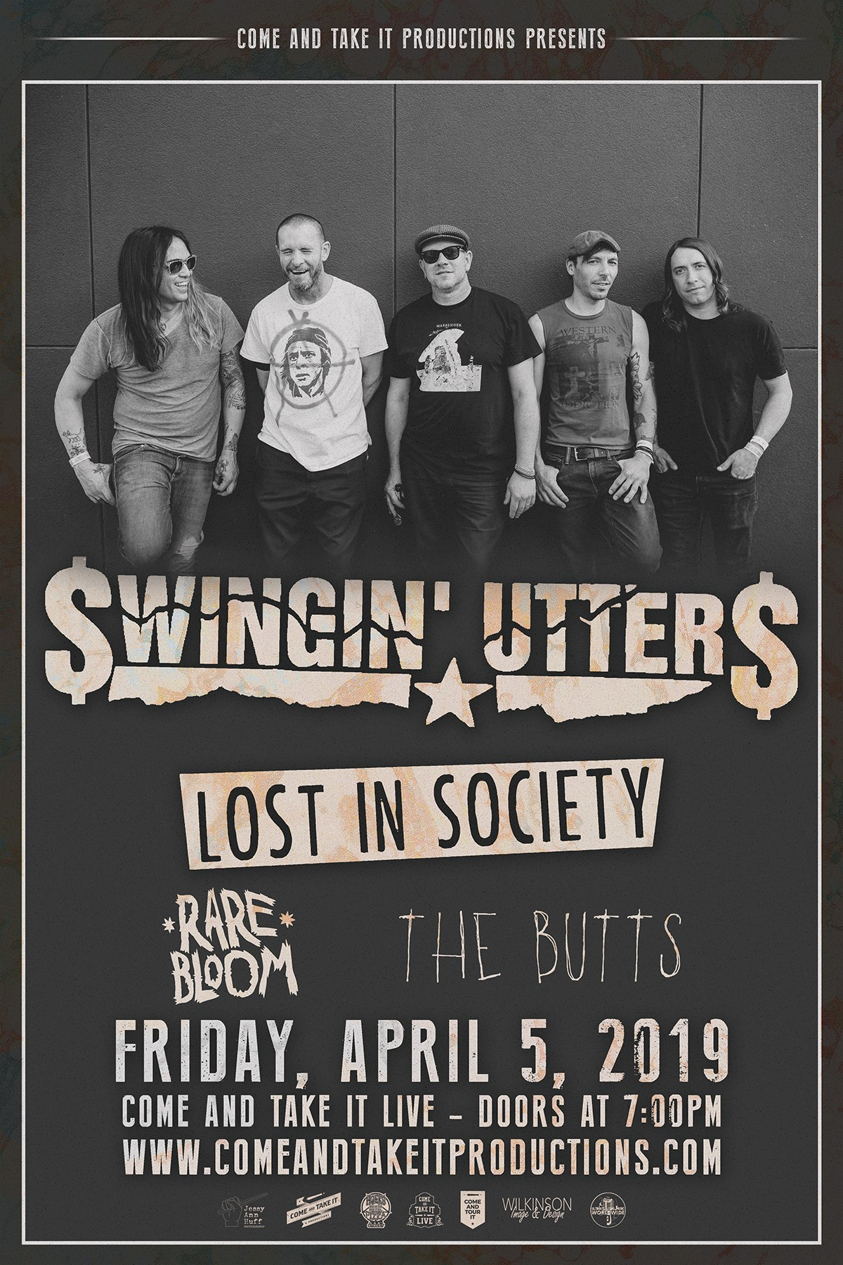Swingin' Utters, Lost In Society and more live in Austin!