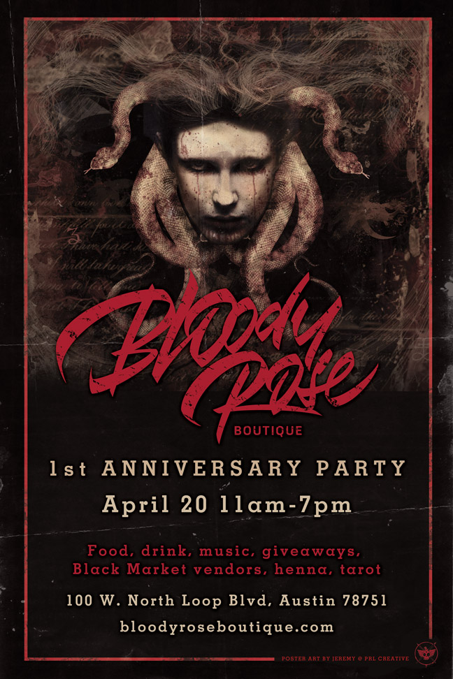 Bloody Rose Boutique First Anniversary