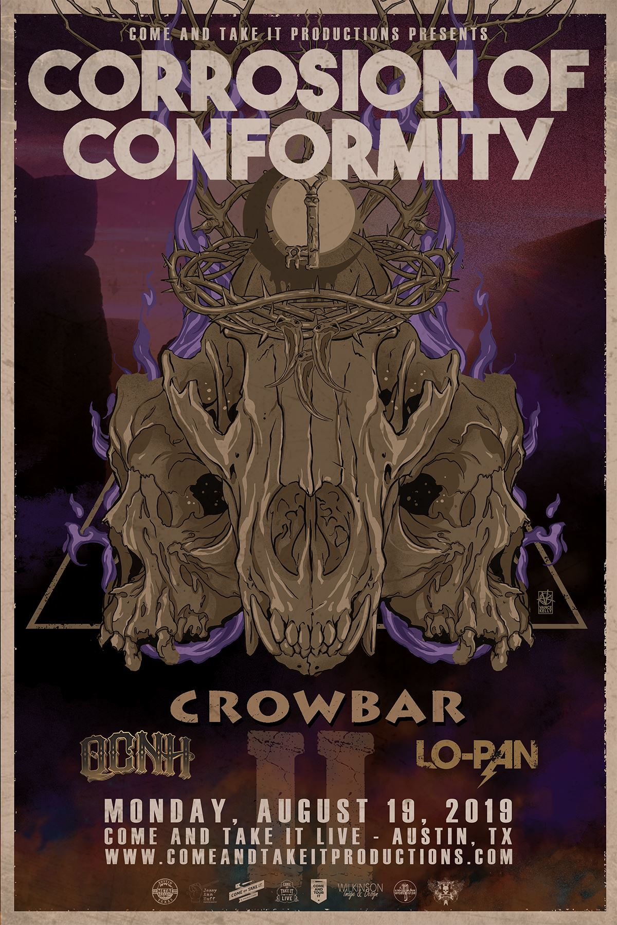 Corrosion of Conformity, Crowbar and more