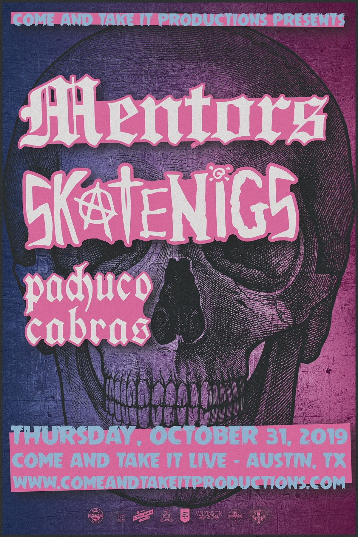 The Mentors, Skatenigs and Pachuco Cabras