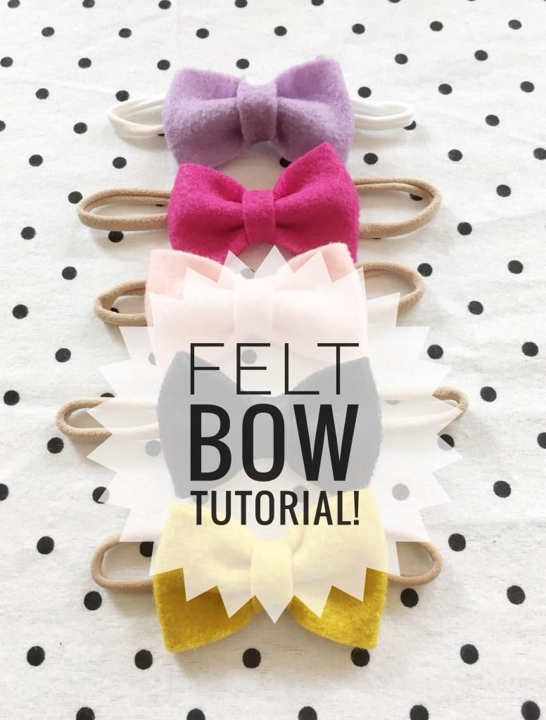 felt bow tutorial