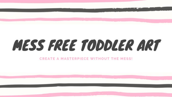 Mess free toddler art!