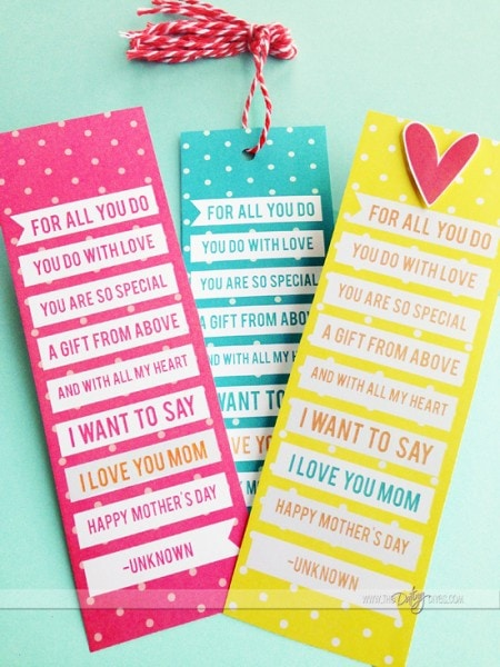 Mother's Day bookmarks for your Mother's Day Journal
