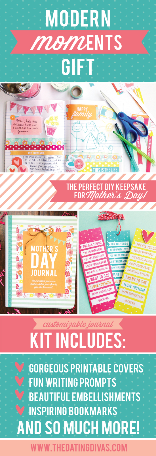 Mothers Day Journal Modern MOMents
