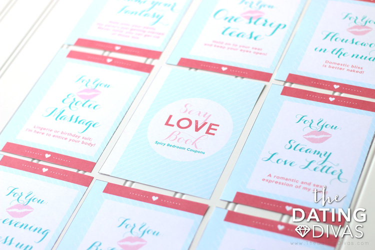 Valentines Day Sexy Love Book Of Coupons From The Dating Divas