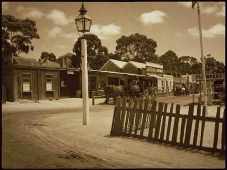 Sovereign Hill village reconstitué