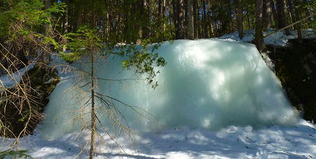 chute glace