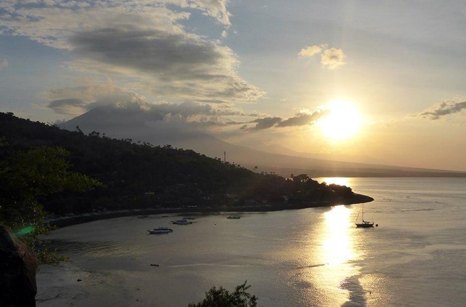 Coucher de soleil, Amed, Bali, Indonésie
