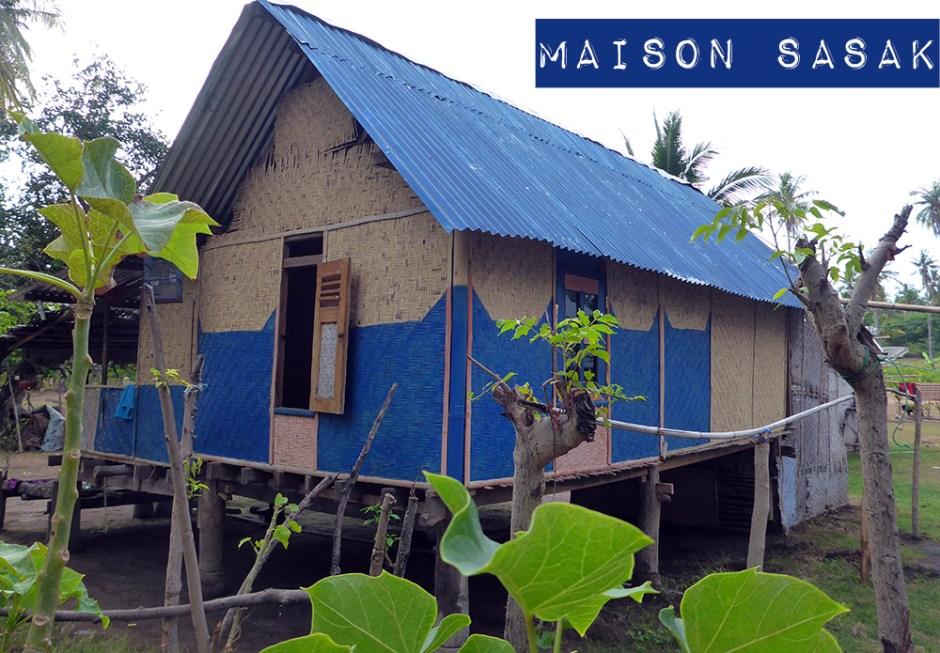 Indonésie, Gili Air, Maison Sasak